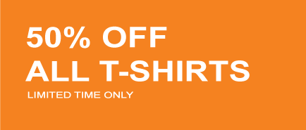 50% OFF ALL T-SHIRTS